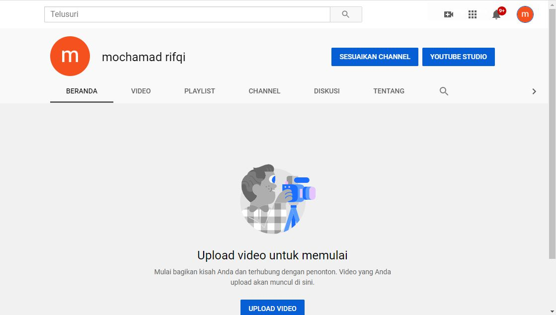 Cara Buat Channel Youtube PC