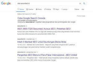 Cara Index Artikel Google