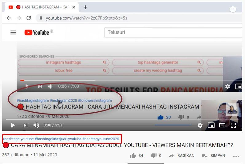 Cara Menambahkan Hastag di Atas Judul Youtube